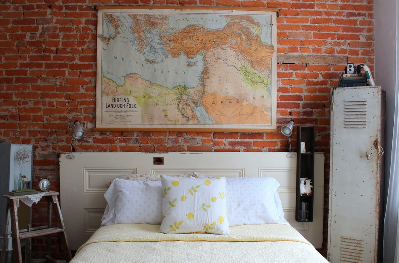 white-door-headboard - Clever Repurposing - Door Headboard Ideas