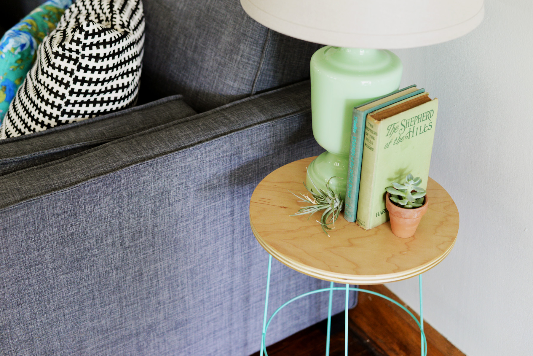 wire side table DIY