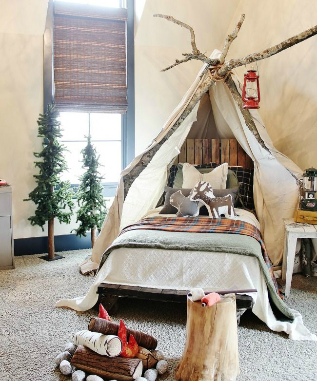 12 Whimsical Woodland Inspired Bedrooms For Kids