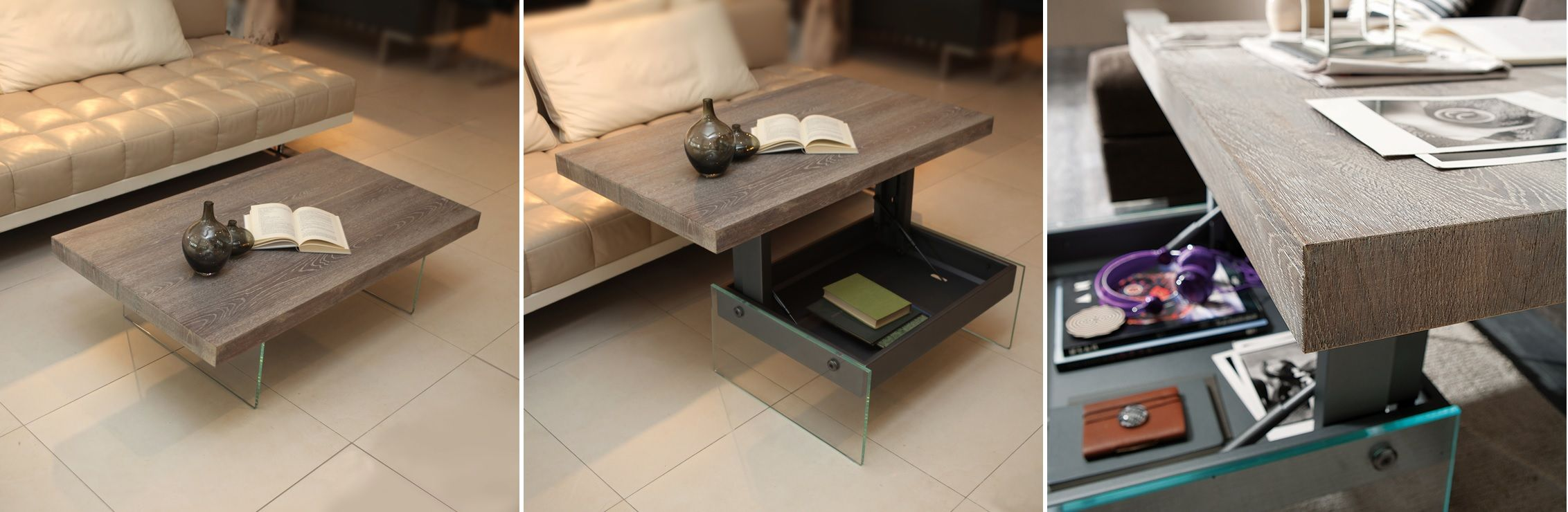 More Functions In A Compact Design Convertible Coffee Tables