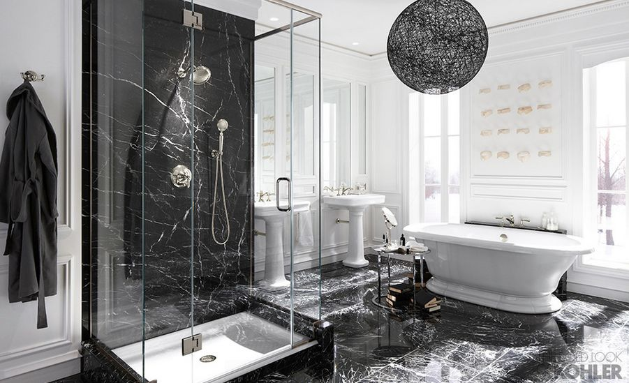 Black Marble Bathroom Home Design