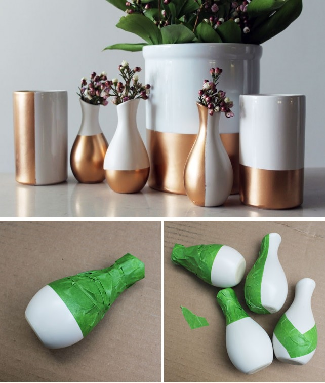 Copper dipped vases tutorial