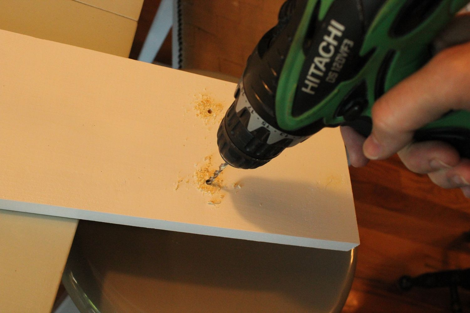 DIY Copper Cup Holder Drill Holes