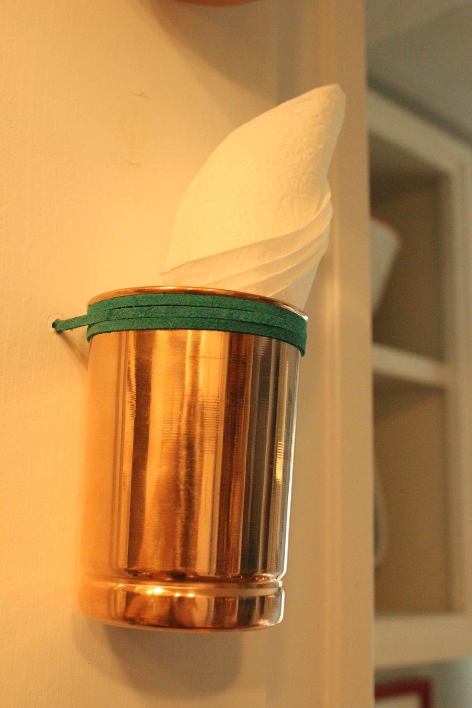 DIY Copper Cup Holder Kitchen