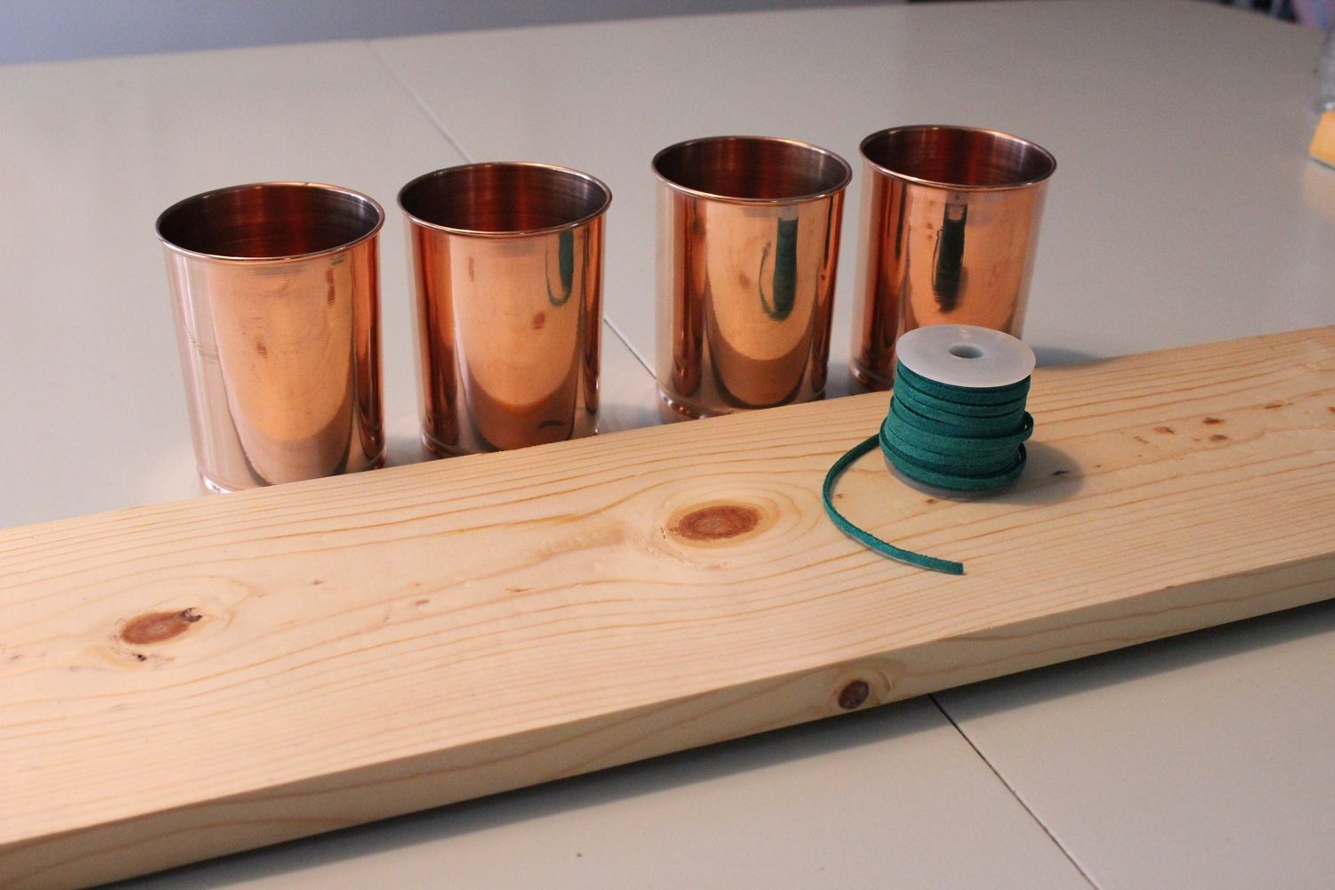 DIY Copper Cup Holder Materials for Project