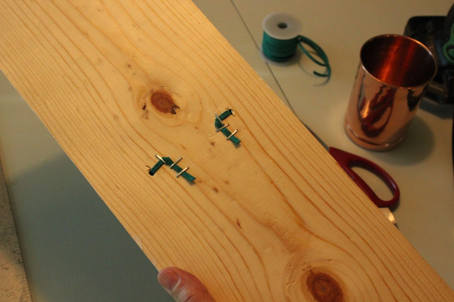 DIY Copper Cup Holder Taut