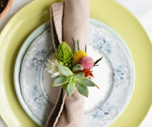 DIY Floral Napkin Holder Rings
