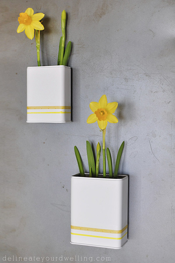 DIY Magnetic Daffodil Planter