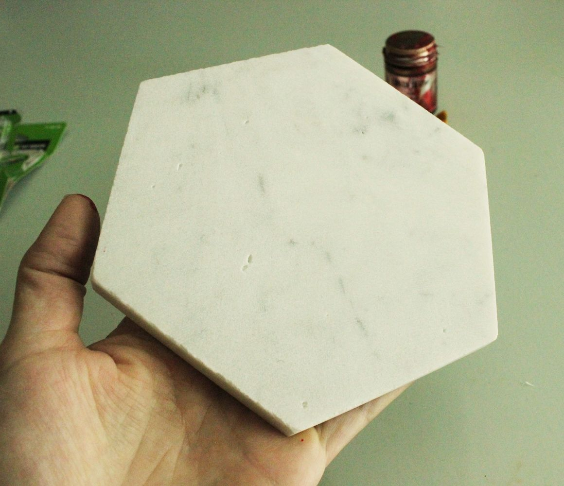 DIY Marble Hex Tray design