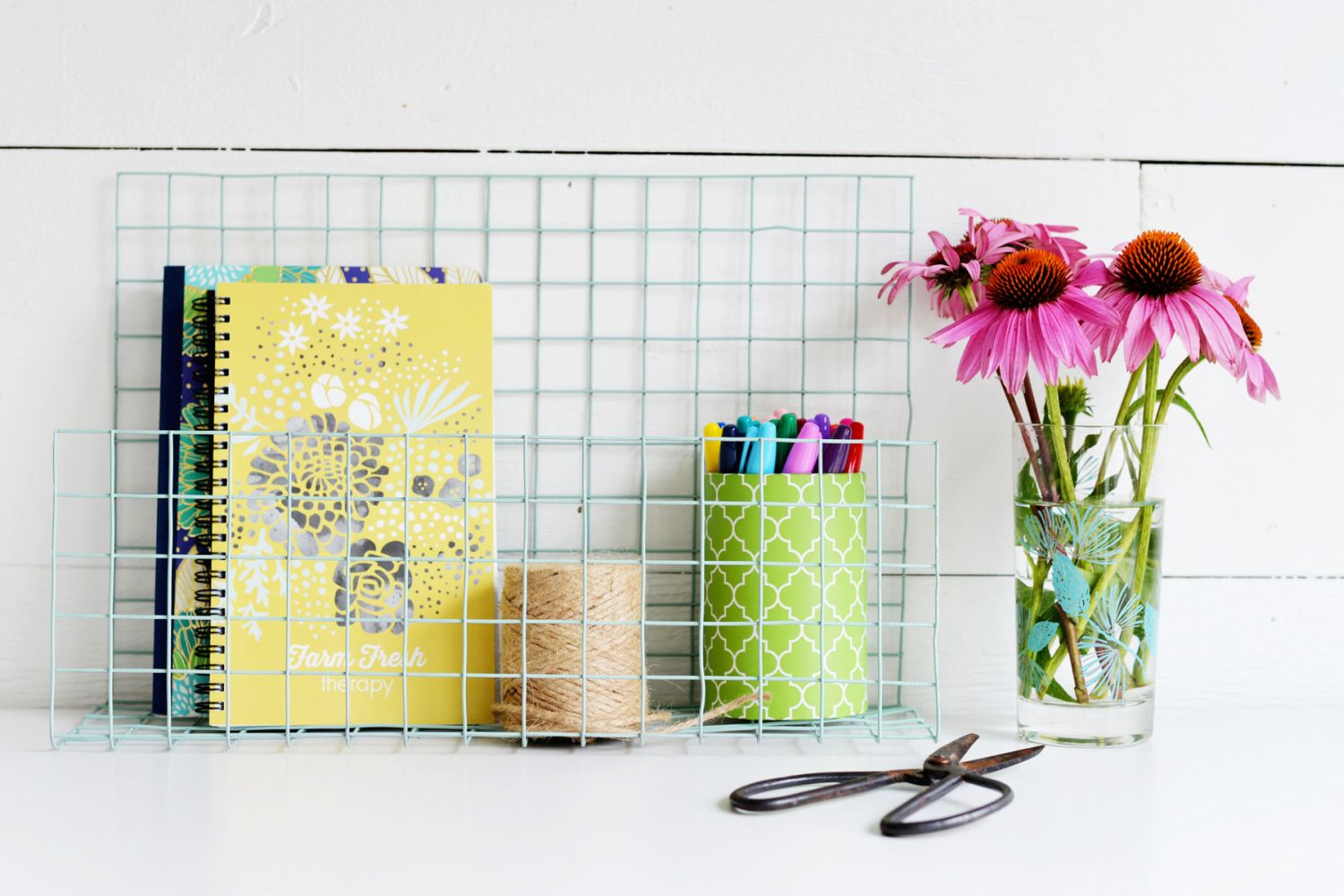 DIY Wire Desk Organizer Finished