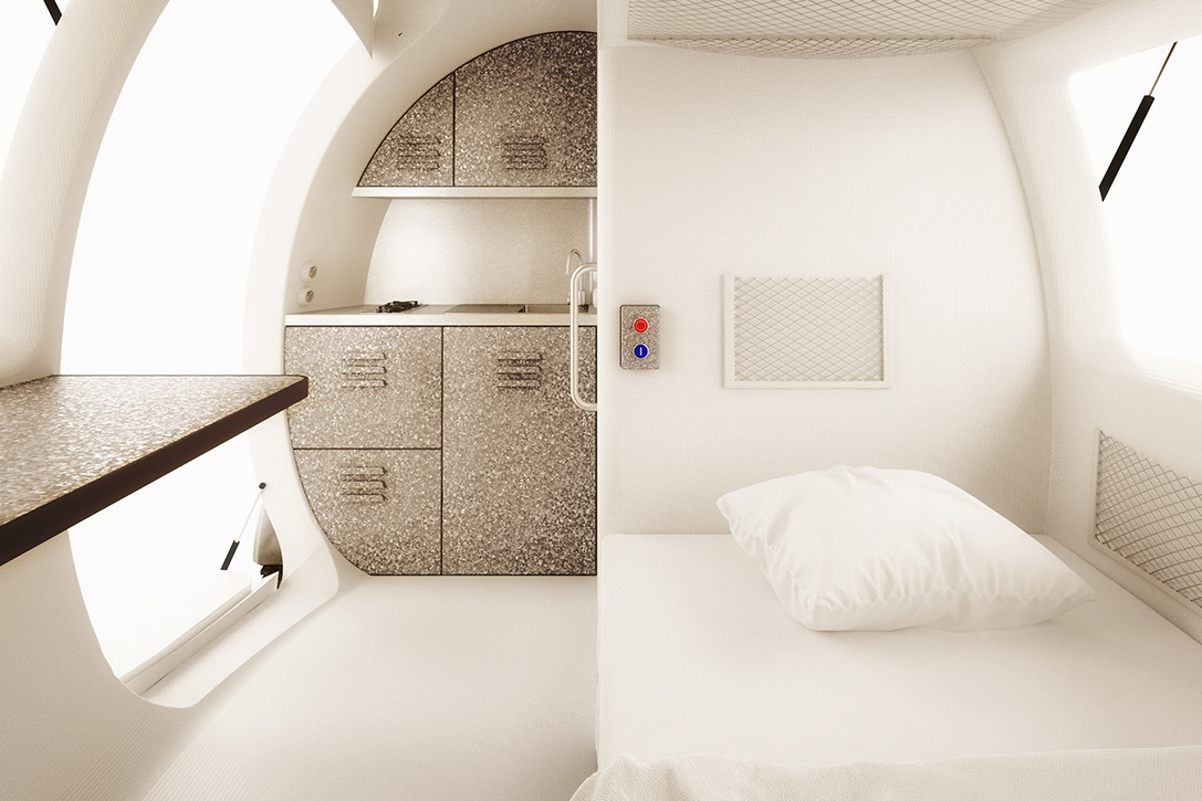 Ecocapsule Portable House Bedroom