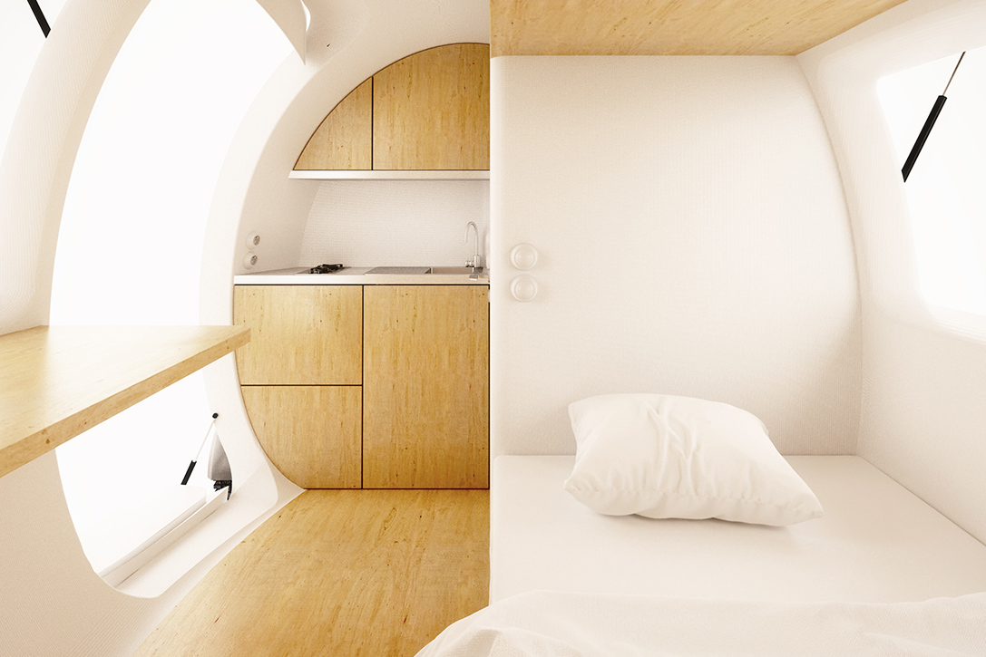 Ecocapsule Portable House Inside