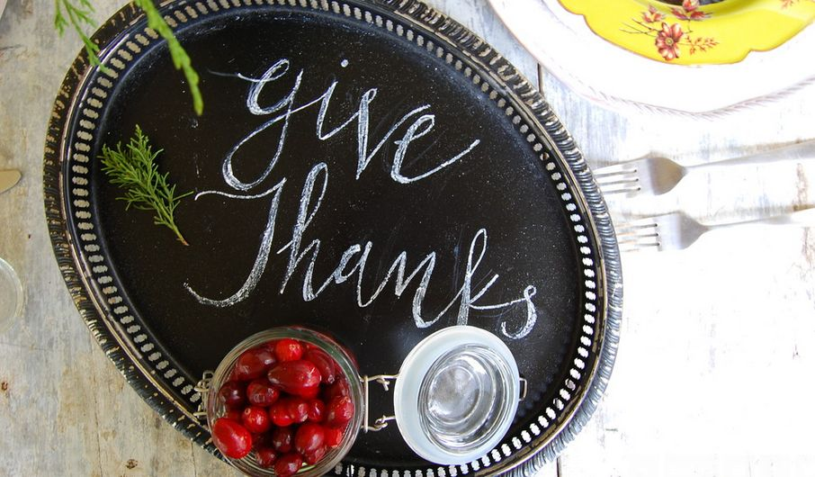 Give thanks serving tray