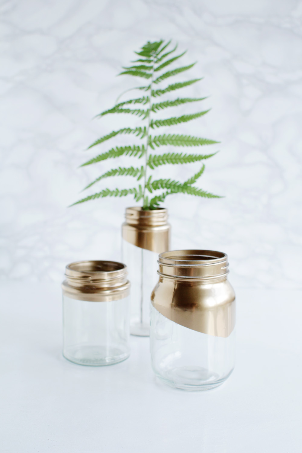Gold tipped jars 13