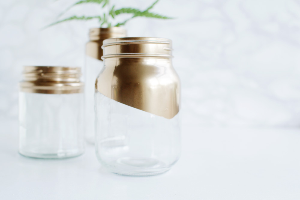 Gold tipped jars 14