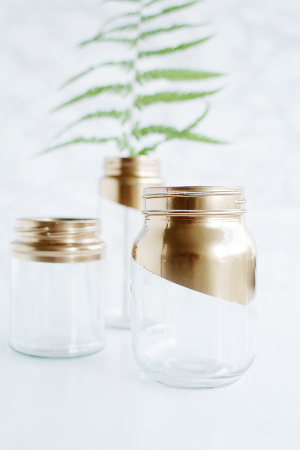 Gold tipped jars 15