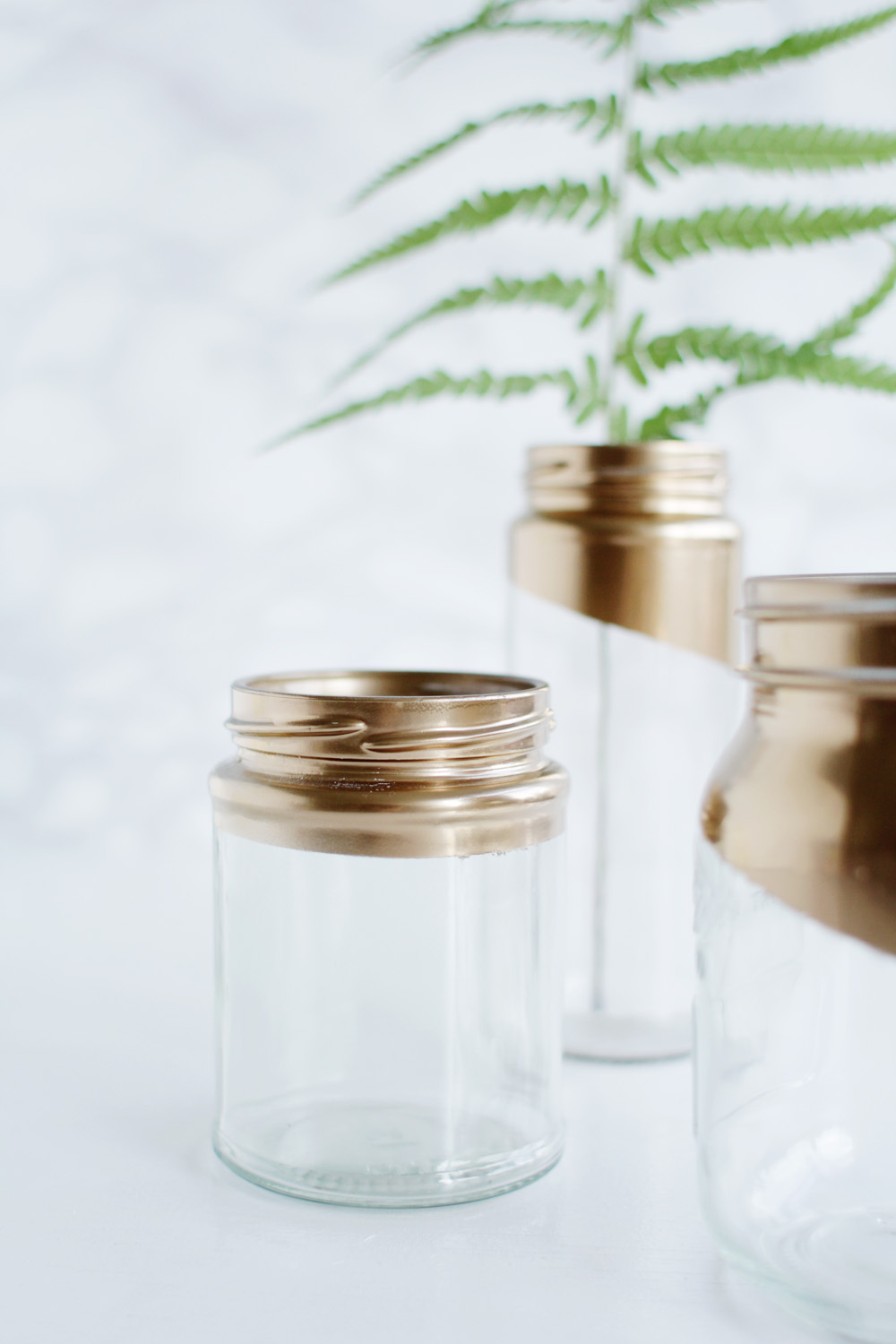 Gold tipped jars 17