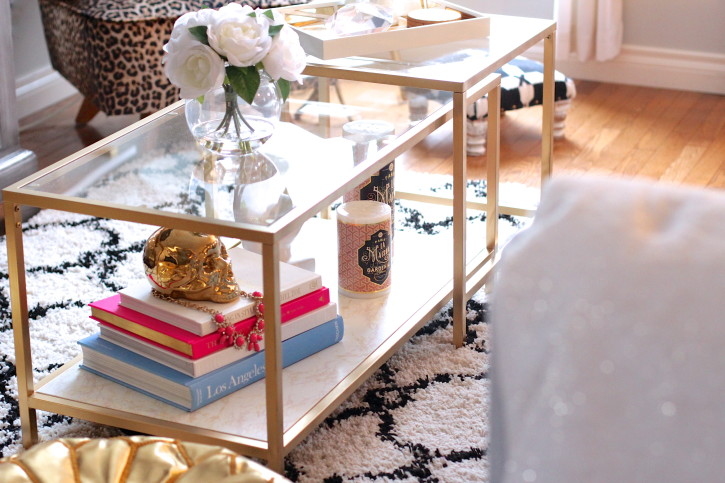 Ikea nesting tables gold hack