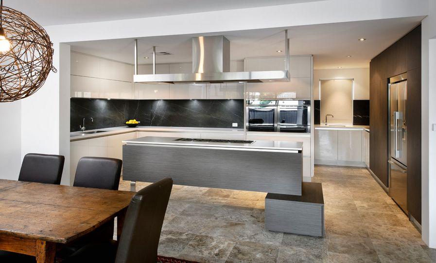 Modern Kitchen Marble Backsplash how black marble can make your home more glamorous