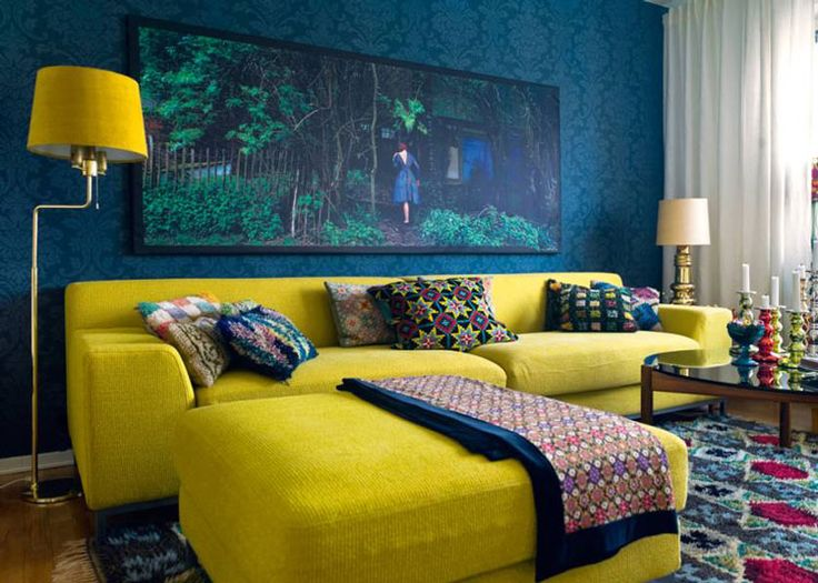 Strange How To Design With And Around A Yellow Living Room Sofa Interior Design Ideas Tzicisoteloinfo