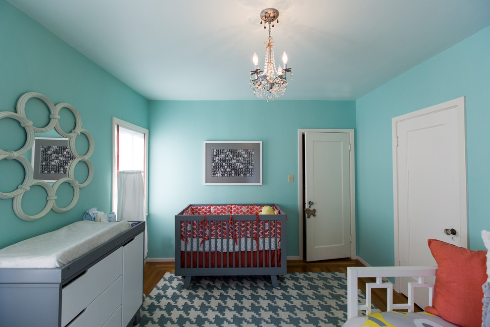 Nursery room with Tiffany blue paint. Discovering Tiffany Blue Paint in 20 Beautiful Ways
