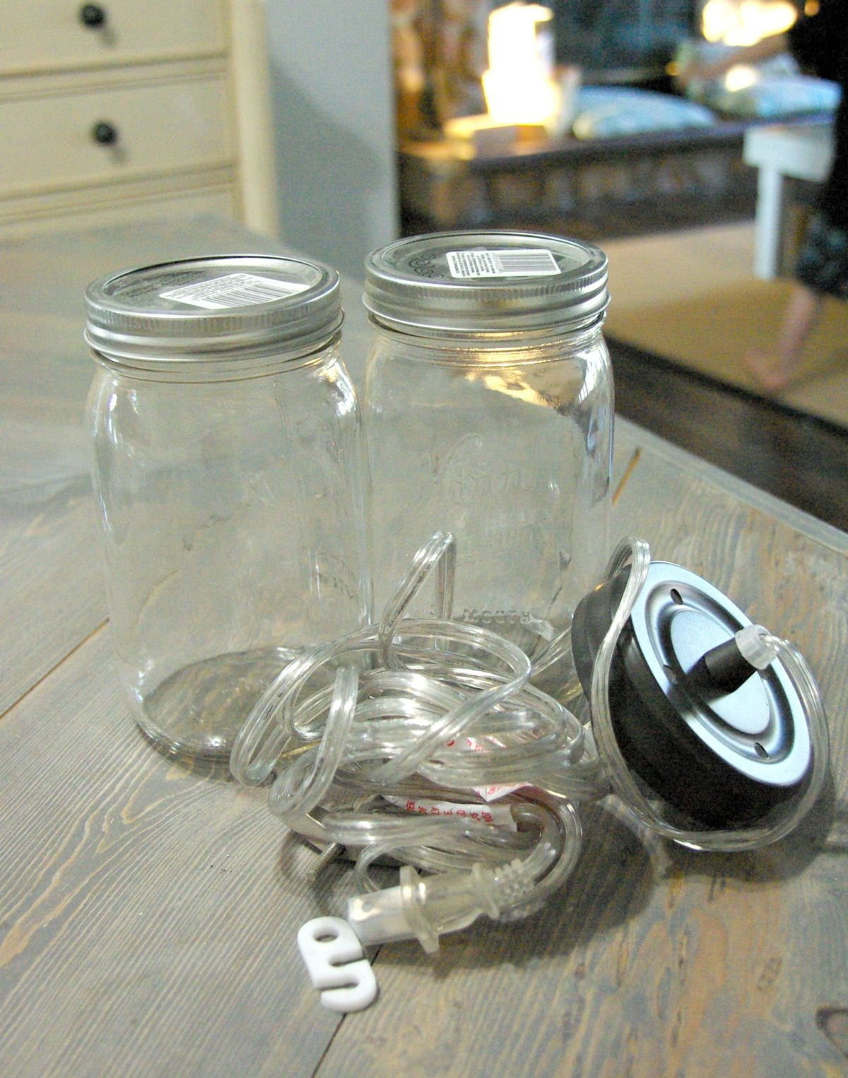 Prepare the mason jar kits