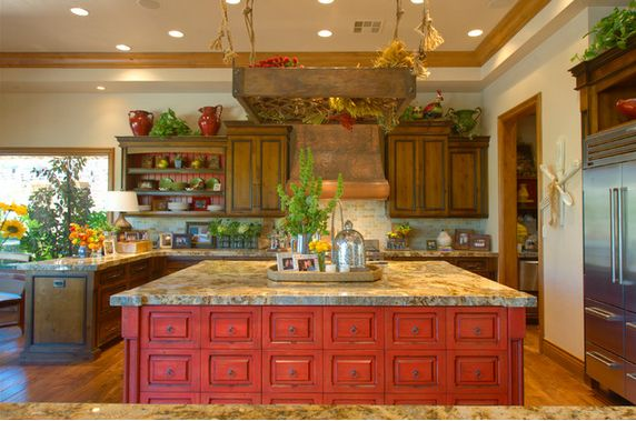 Red Mediterranean Kitchen