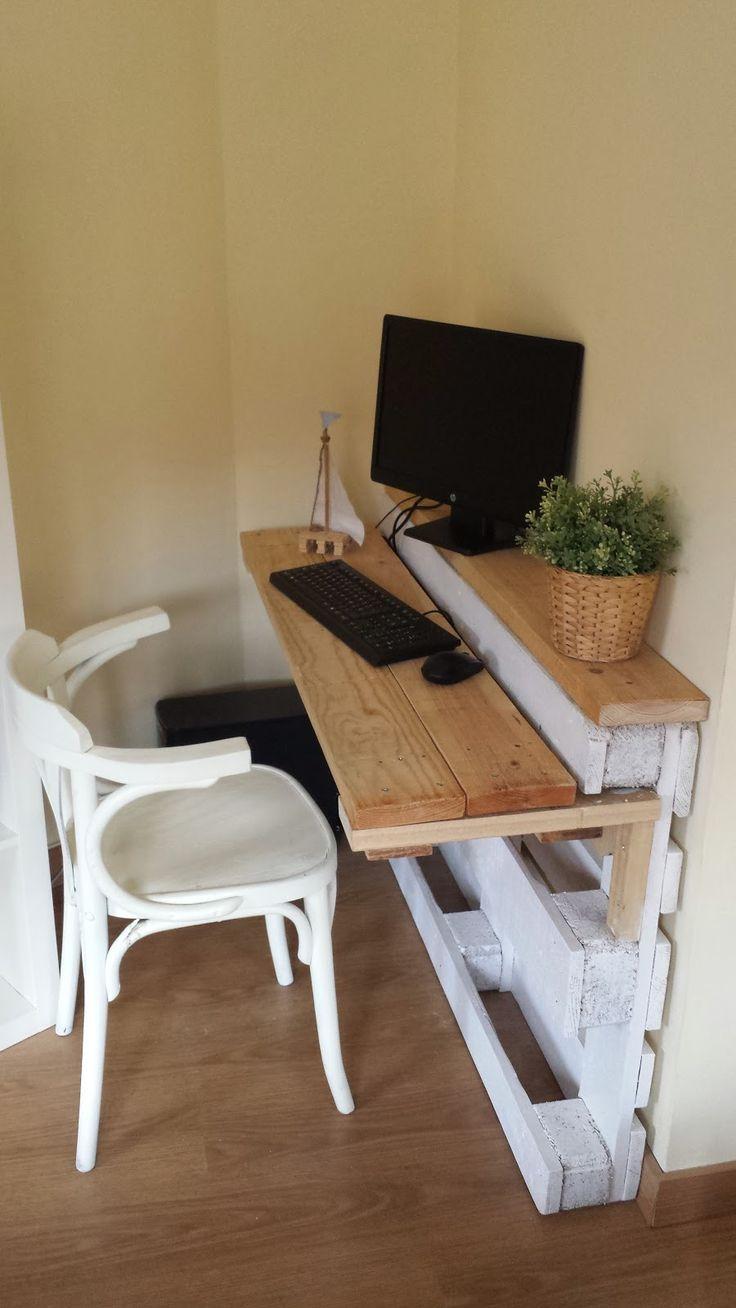 Simple pallet desk diy