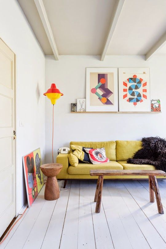 Living Room Decor Yellow how to design with and around a yellow living room sofa