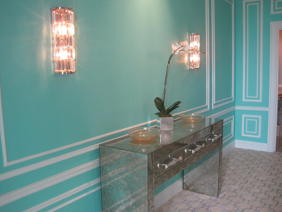 Tiffany Blue Paint Entryway