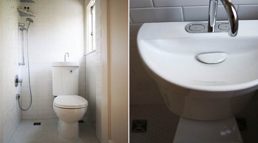 Tiny bathroom remodel. Toilet Sink Combo Ideas That Help You Stay Green