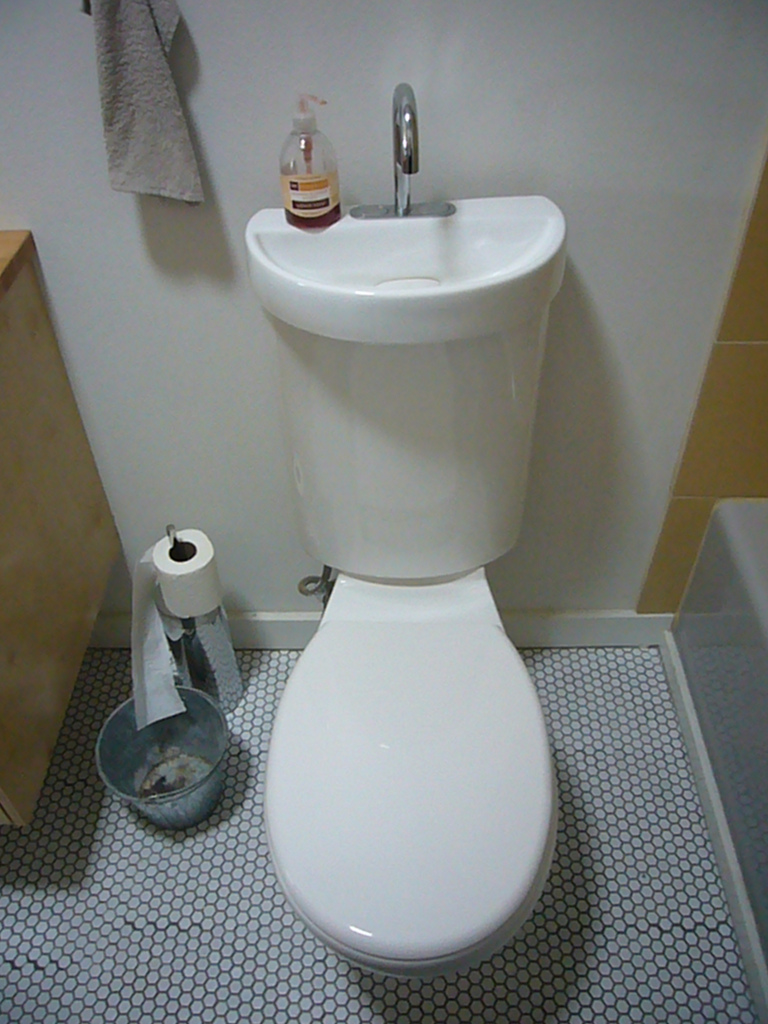 Toilet sink combo for small spaces