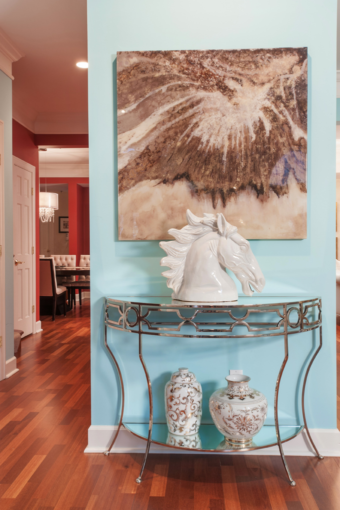 Vibrant color for Entryway