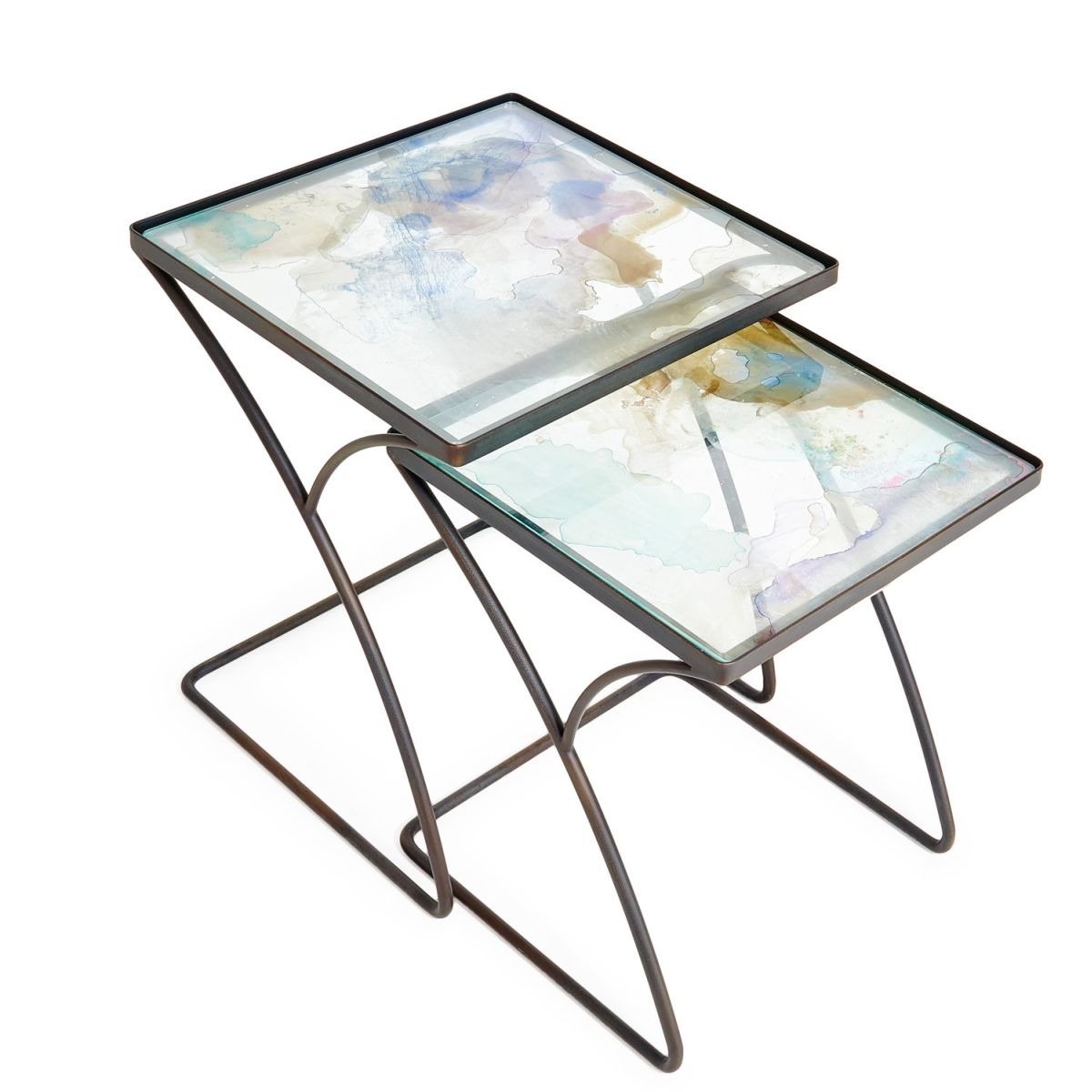 Water color nesting tables