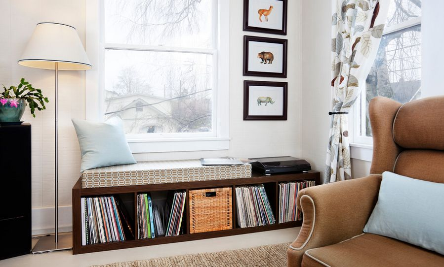 Charming Window Seating And Storage For Vinyl