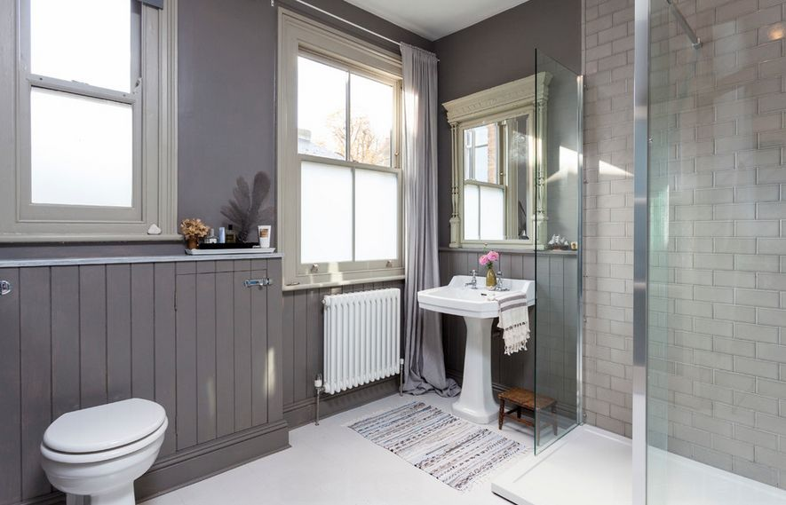 balanced grey bathroom Cool And Sophisticated Designs