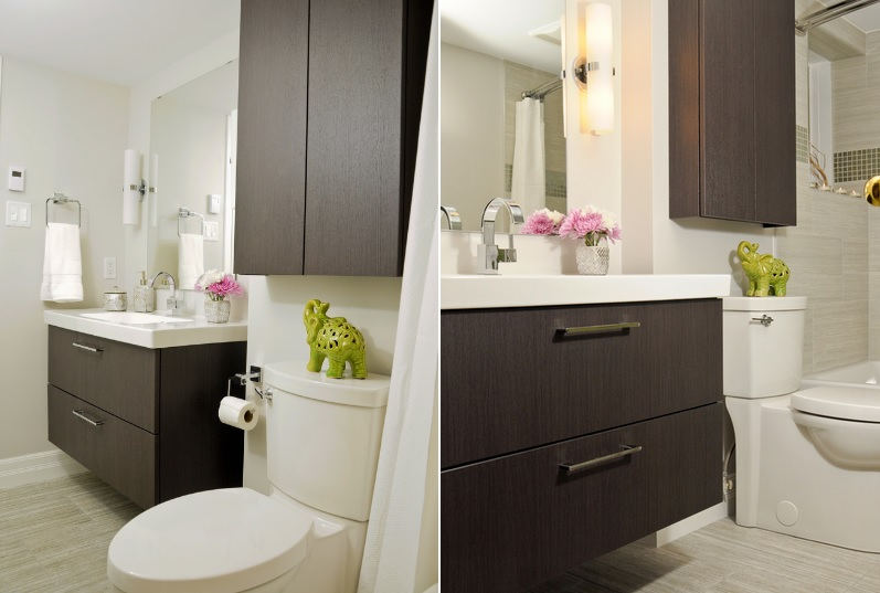 Over the toilet storage and design options for small bathrooms for Bathroom cabinets above toilet