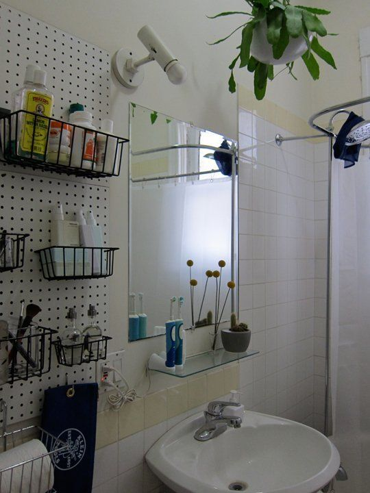 Bathroom Pegboard Wall