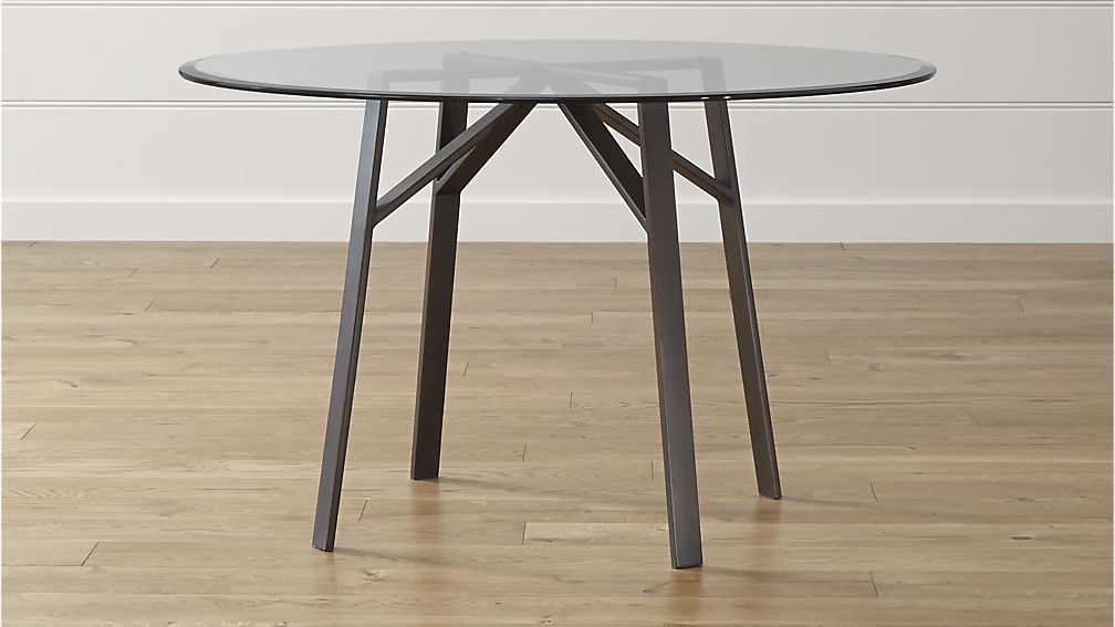 Round Glass Dining Tables That Make A Stylish Impression : belden round dining table with 48 glass top from www.homedit.com size 1008 x 567 jpeg 57kB