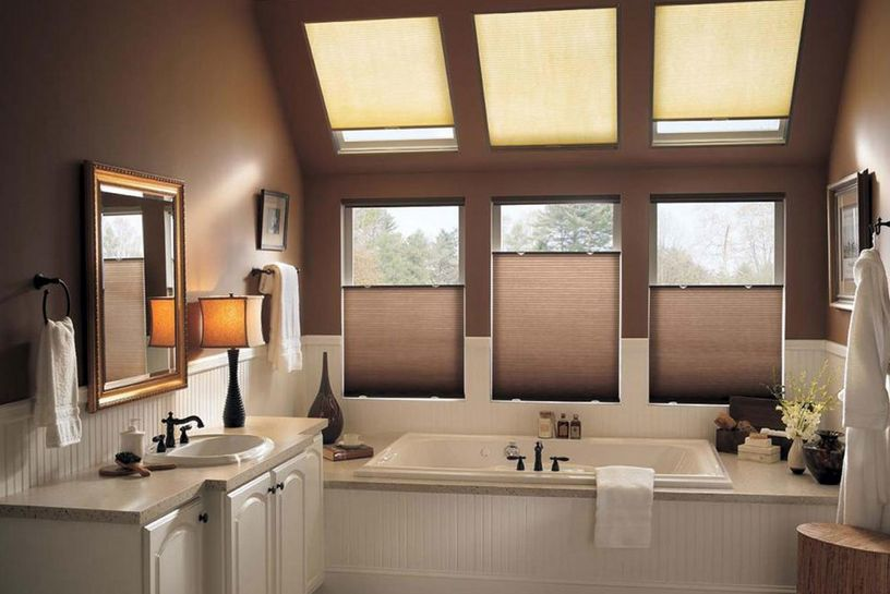 brown-bathroom-with-windows-blinds