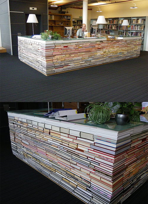 build-a-reception-desk-with-tons-of-books