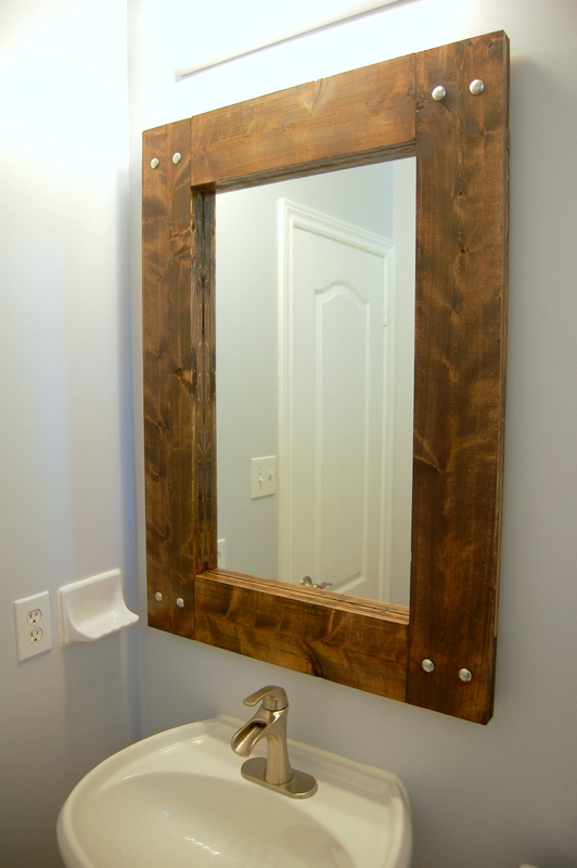 Building A Rustic Mirror For Bathroom