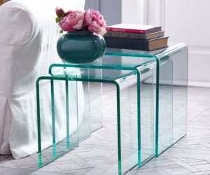 The Peekaboo Clear Nesting Tables - Clear nesting tables