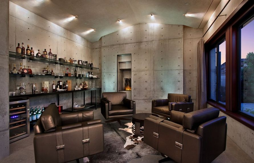 Charming Concrete Man Cave Decor