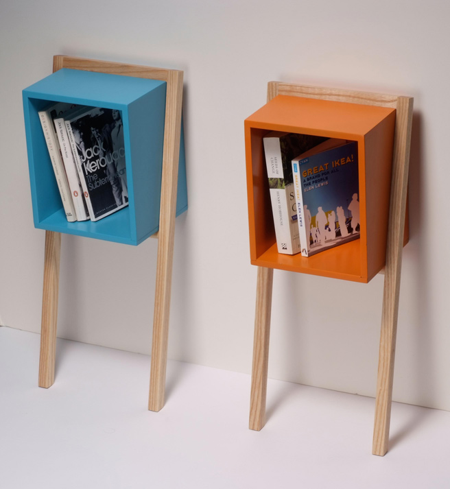 Cube Shaped Bookshelf
