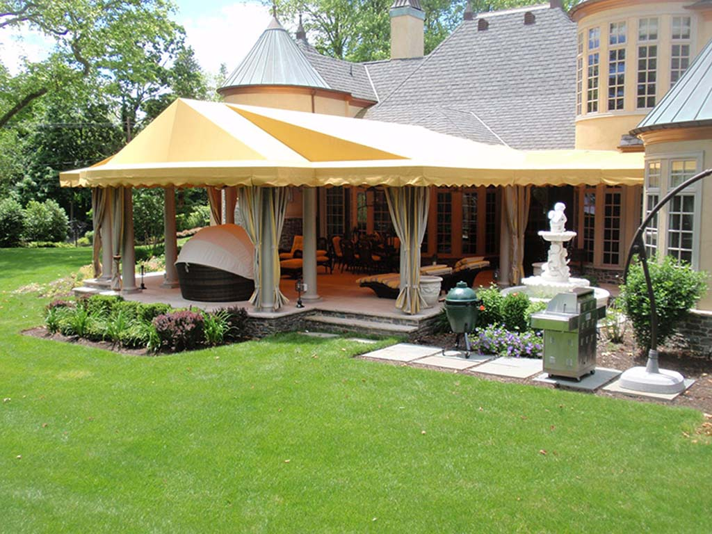 Custom Yellows & 20 Stylish Outdoor Canopies For the Home