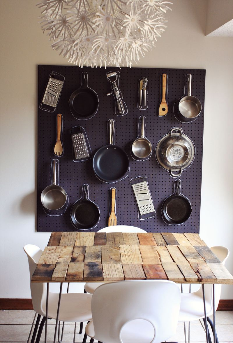 dining-area-wall-pegboard-design