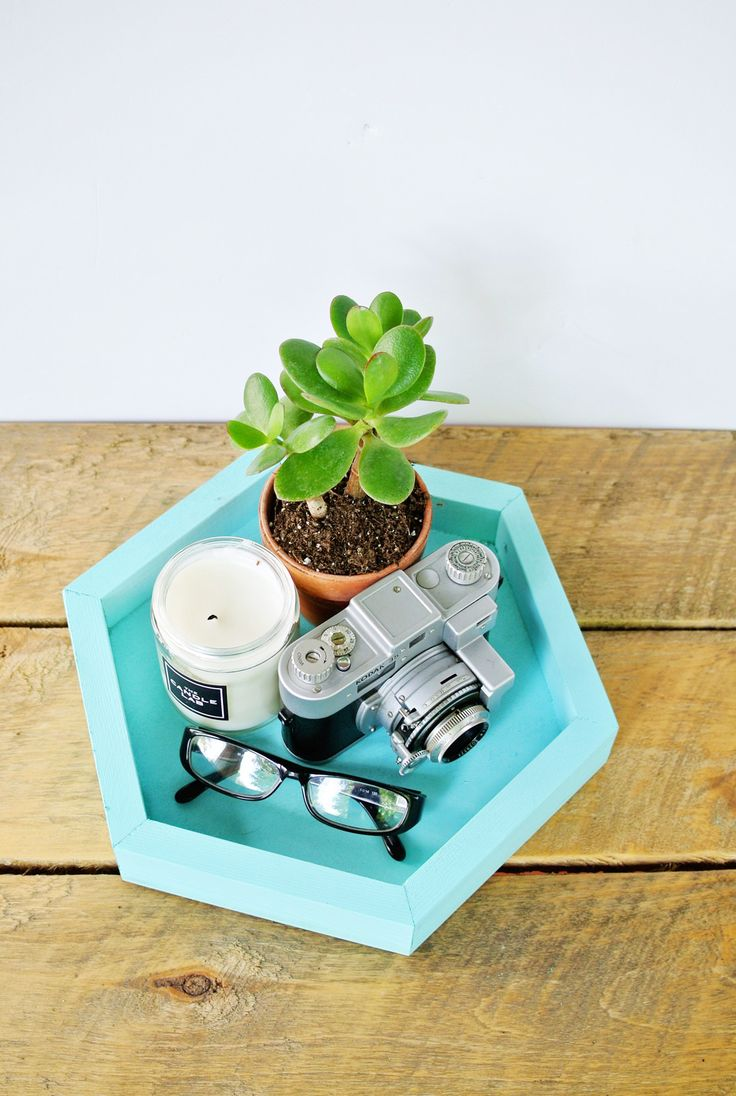 diy hexagon tray