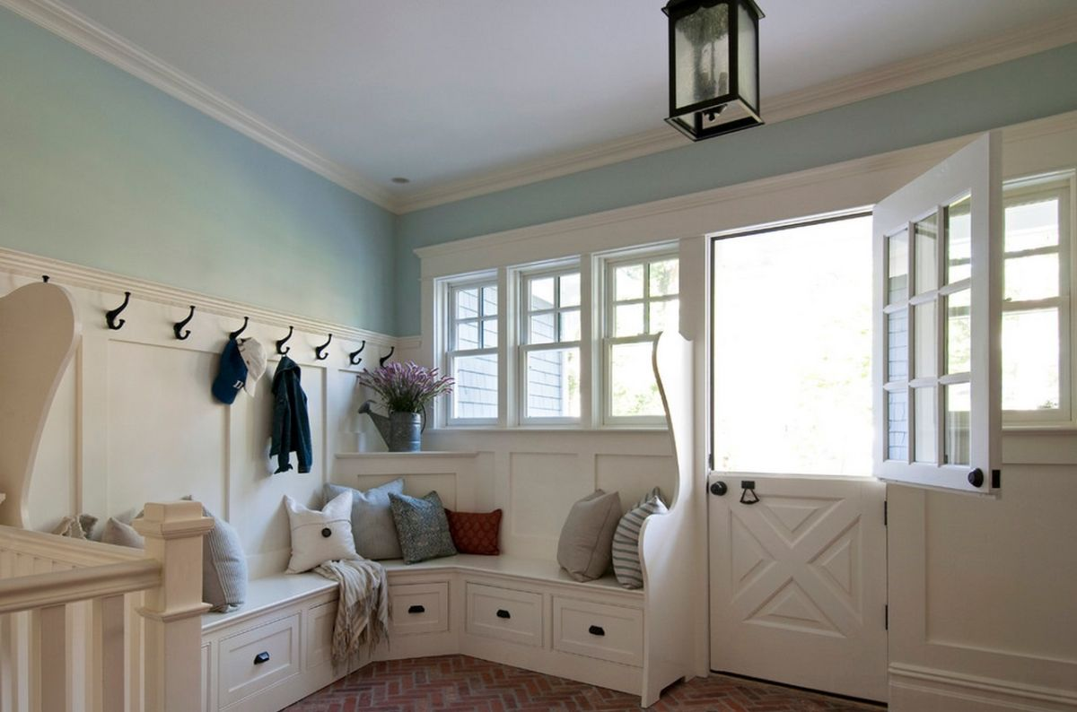 entryway-corner-bench-storage & When And How To Use A Corner Bench In Your Home