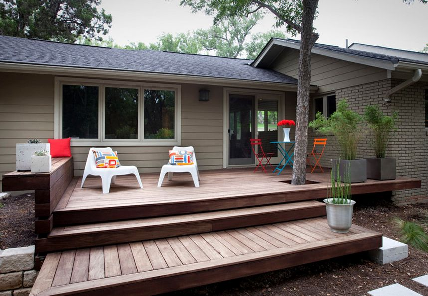 Floating Deck Steps